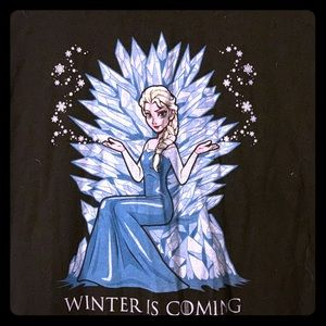 """Winter is Coming"" Frozen/Game of Thrones T-shirt"